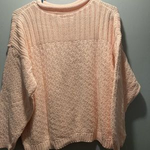 Vintage Across America by knit Maven peach colored knit sweater